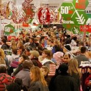A crowd of shoppers seeking bargains at Target in Cool Springs, Tenn., bought electronics, apparel and toys on Friday, Nov. 27, 2009.(AP Photo/The Tennessean, John Partipilo)