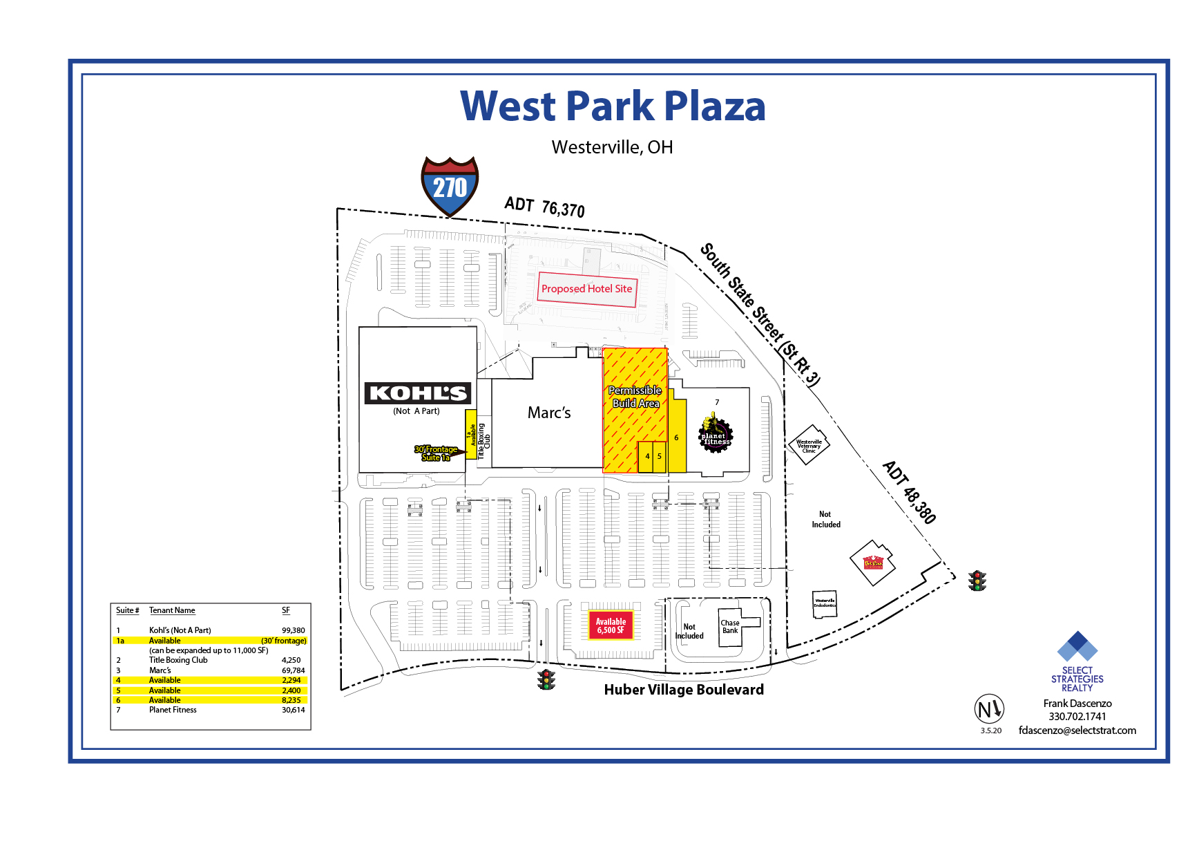 West Park Plaza Site Plan