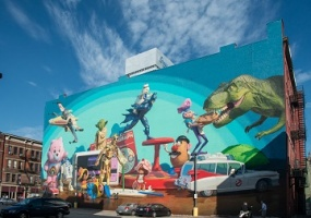Kenner Toy Heritage mural - 23 Court Street