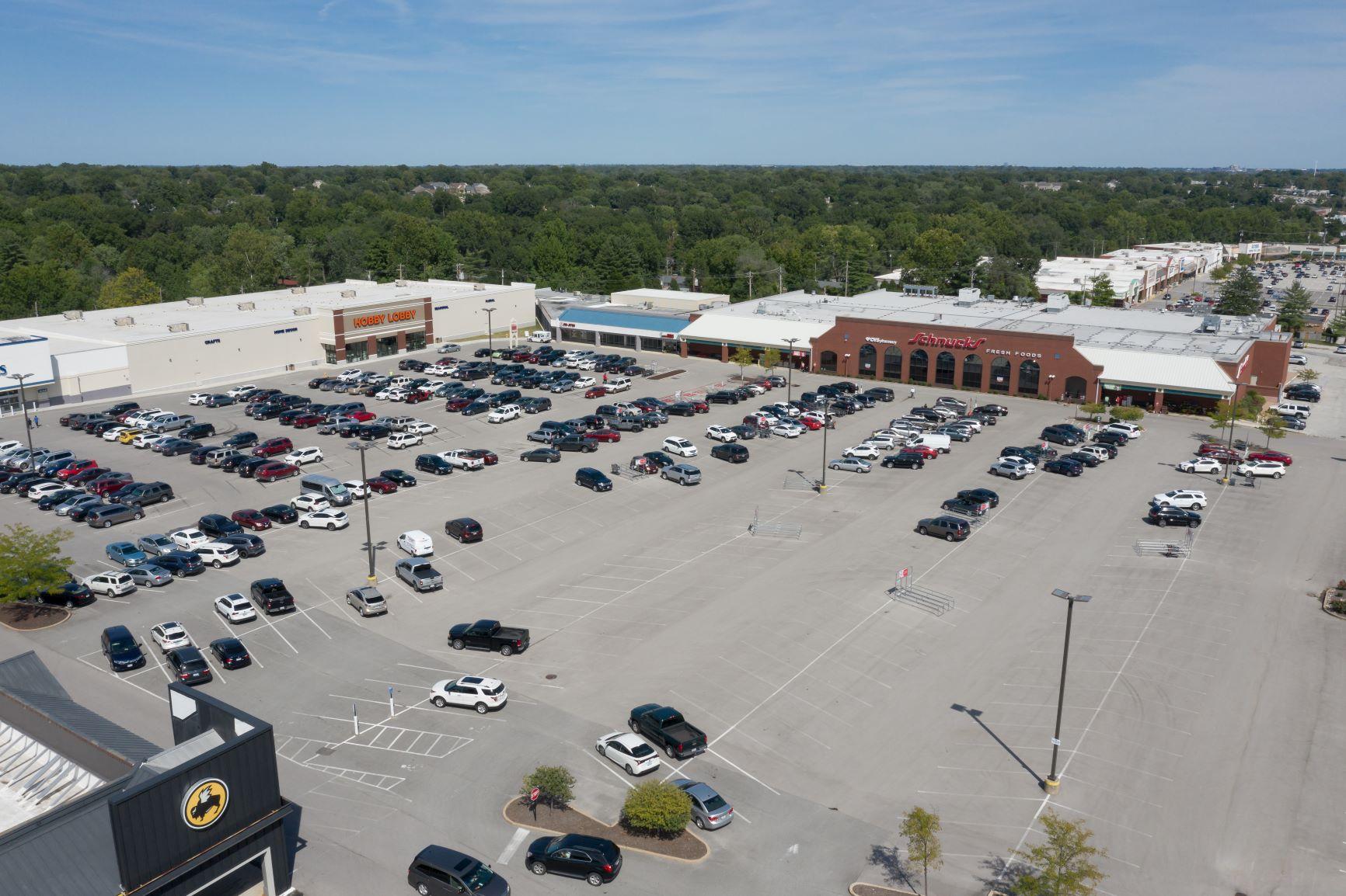 Ballwin Plaza aerial